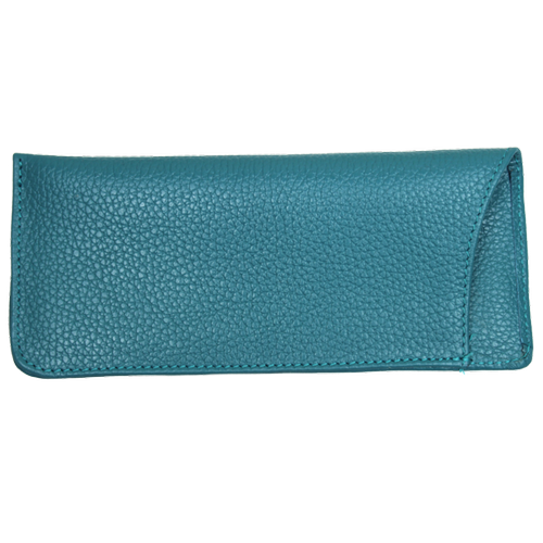 Leather Glasses Case - Teal